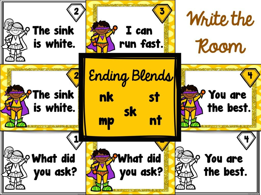 Ending Blends Worksheets Anchor Charts And Write The