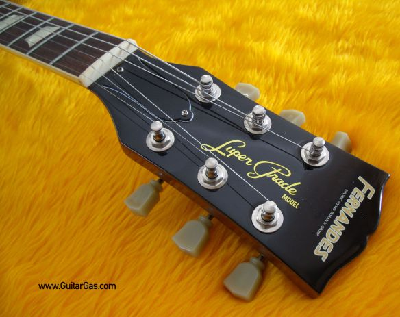 Fernandes Super Grade Gold Top Open Book Headstock