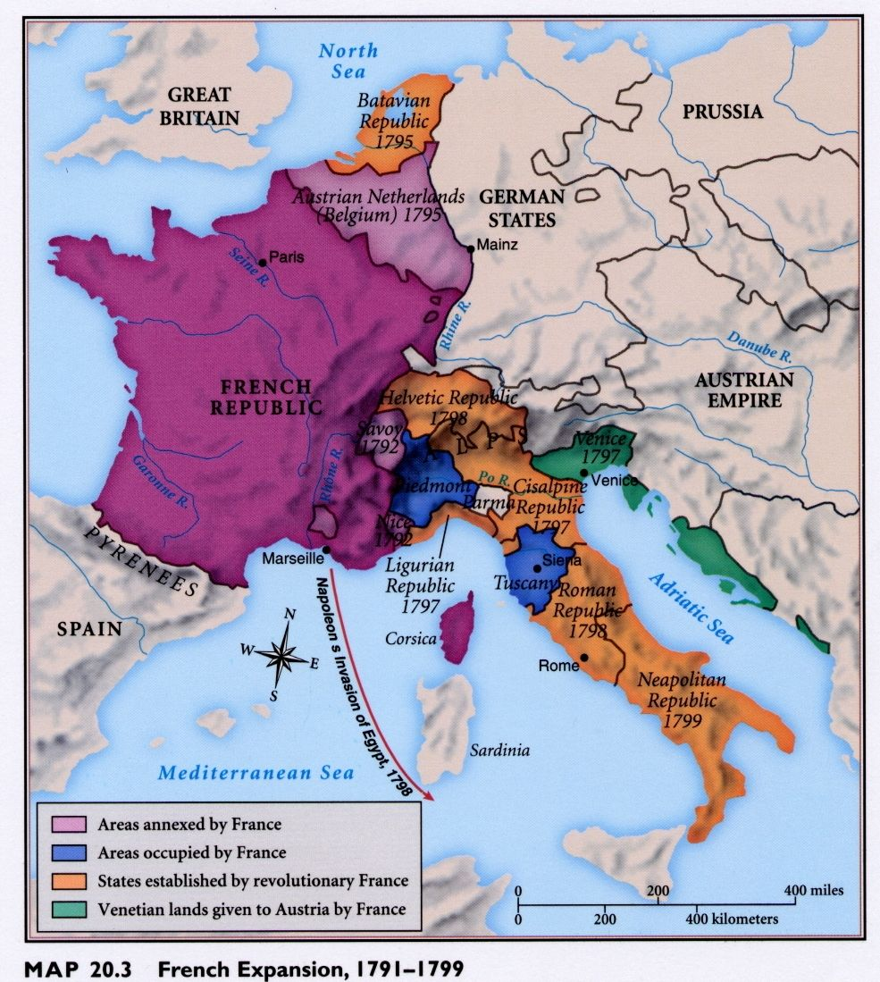 (17911799) Expansion of Revolutionary France French