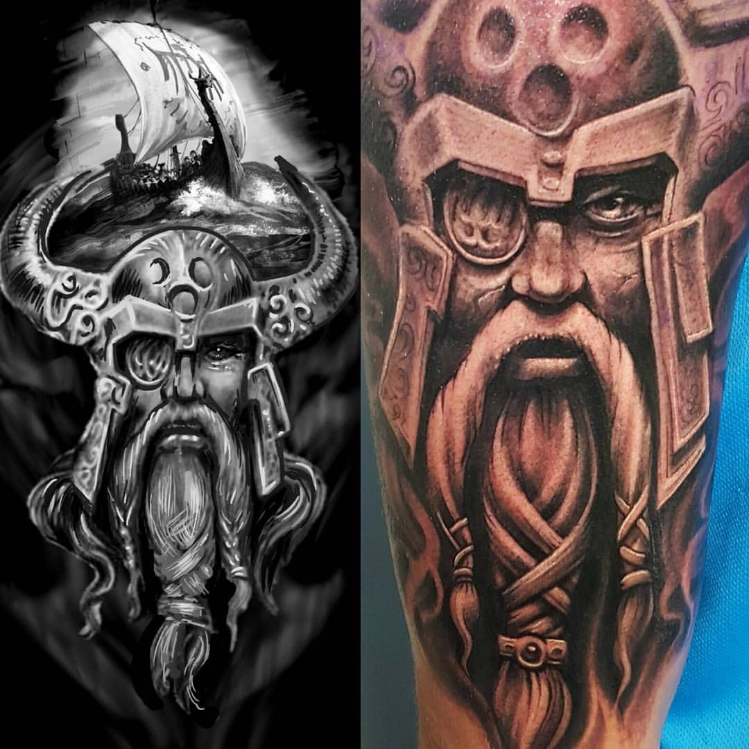 viking tattoo by Matt Parkin Soular Tattoo Soular