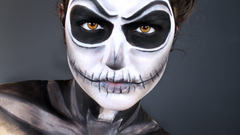 Jack Skellington Halloween Makeup Tutorial. The Pumpkin