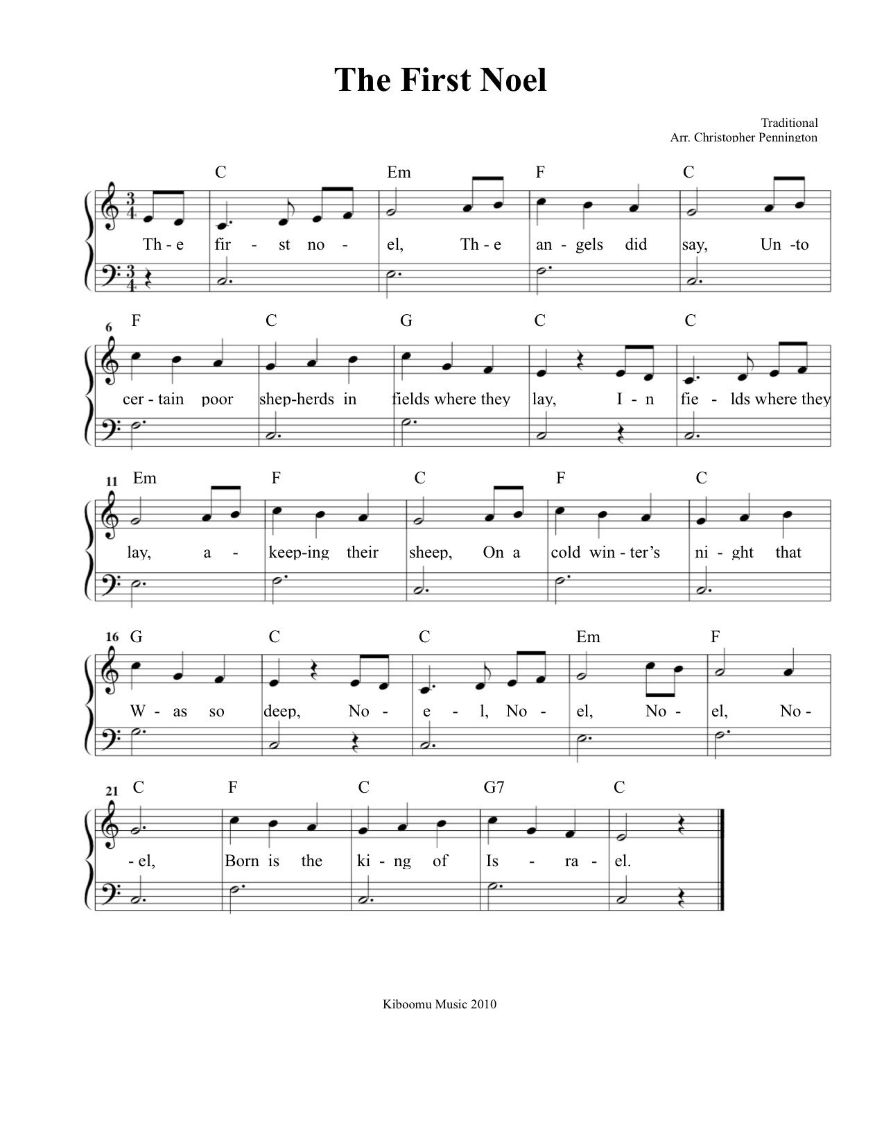 Christmas Sheet Music The First Noel Sheet Music And Song