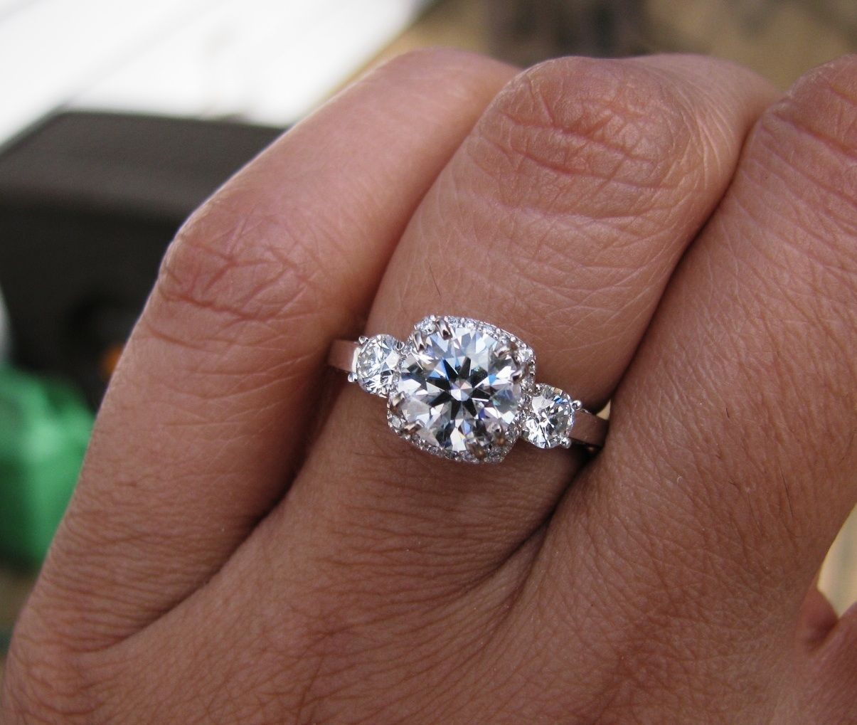 Show Me Your Round 1 15 Carat Engagement Rings