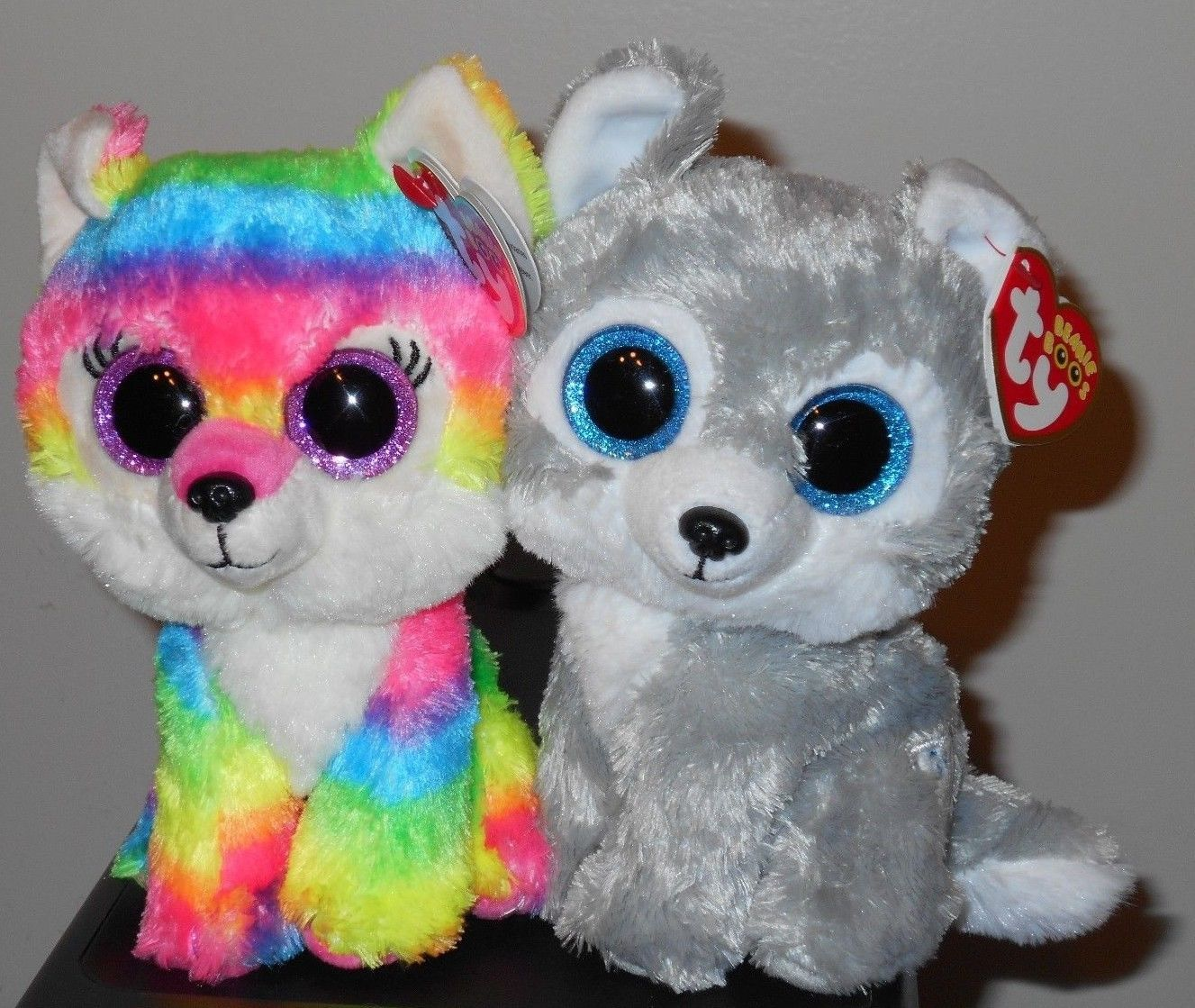 """Ty Beanie Boos RIVER & WARRIOR 6"""" Great Wolf Lodge"""