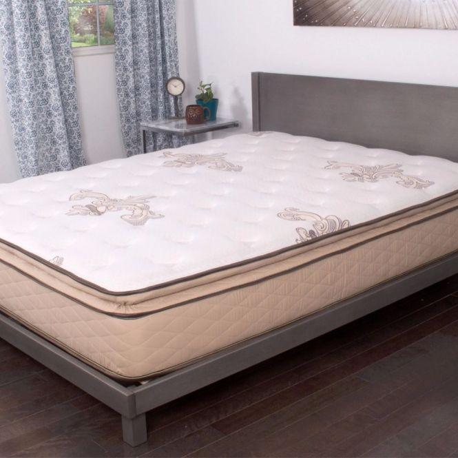 Quilted Pillow Top 11 Inch Short Queen Size Rv Plush Foam Mattress Bedding