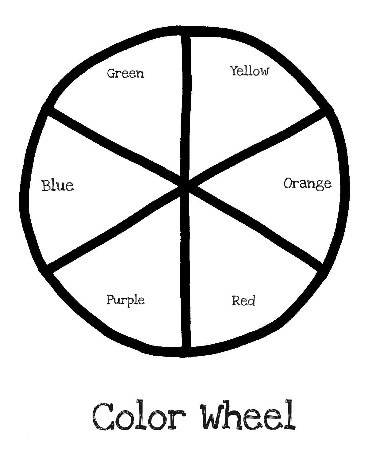 Color Wheel Template Printable