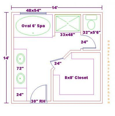 small master bathroom floor plans free