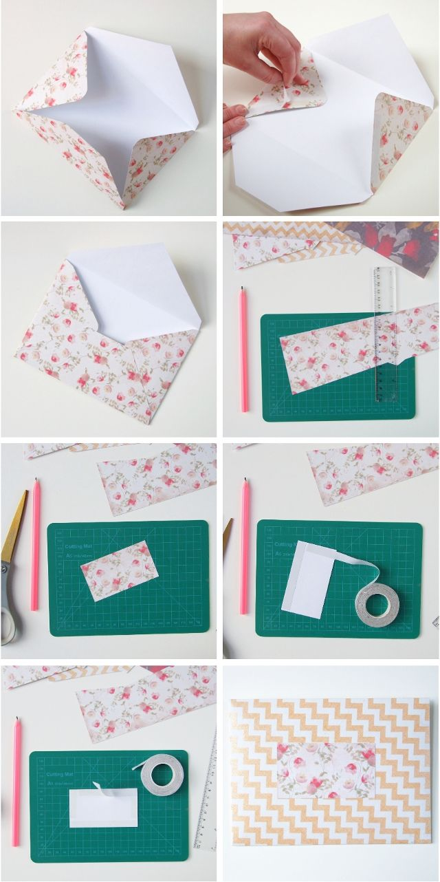 SWEET AND SIMPLE DIY SCRAPBOOK PAPER ENVELOPES. Diy