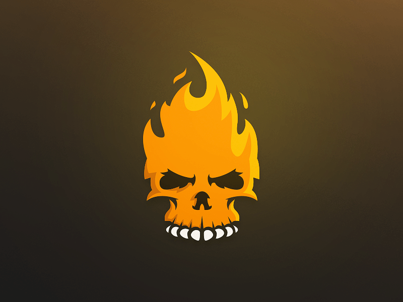 Fire Skull Logo on Behance Mascot Branding And Logos