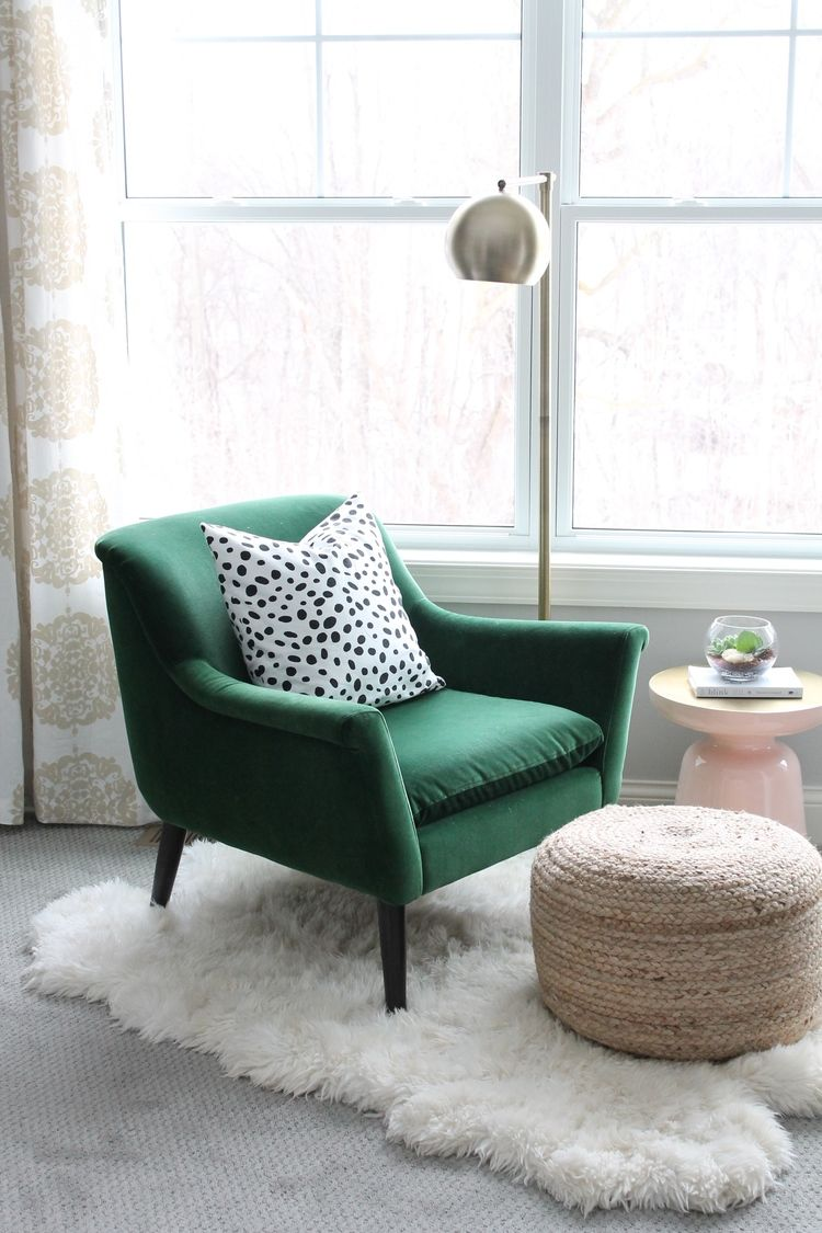 Feb 19 Master Bedroom Reveal Bedroom green, Green velvet
