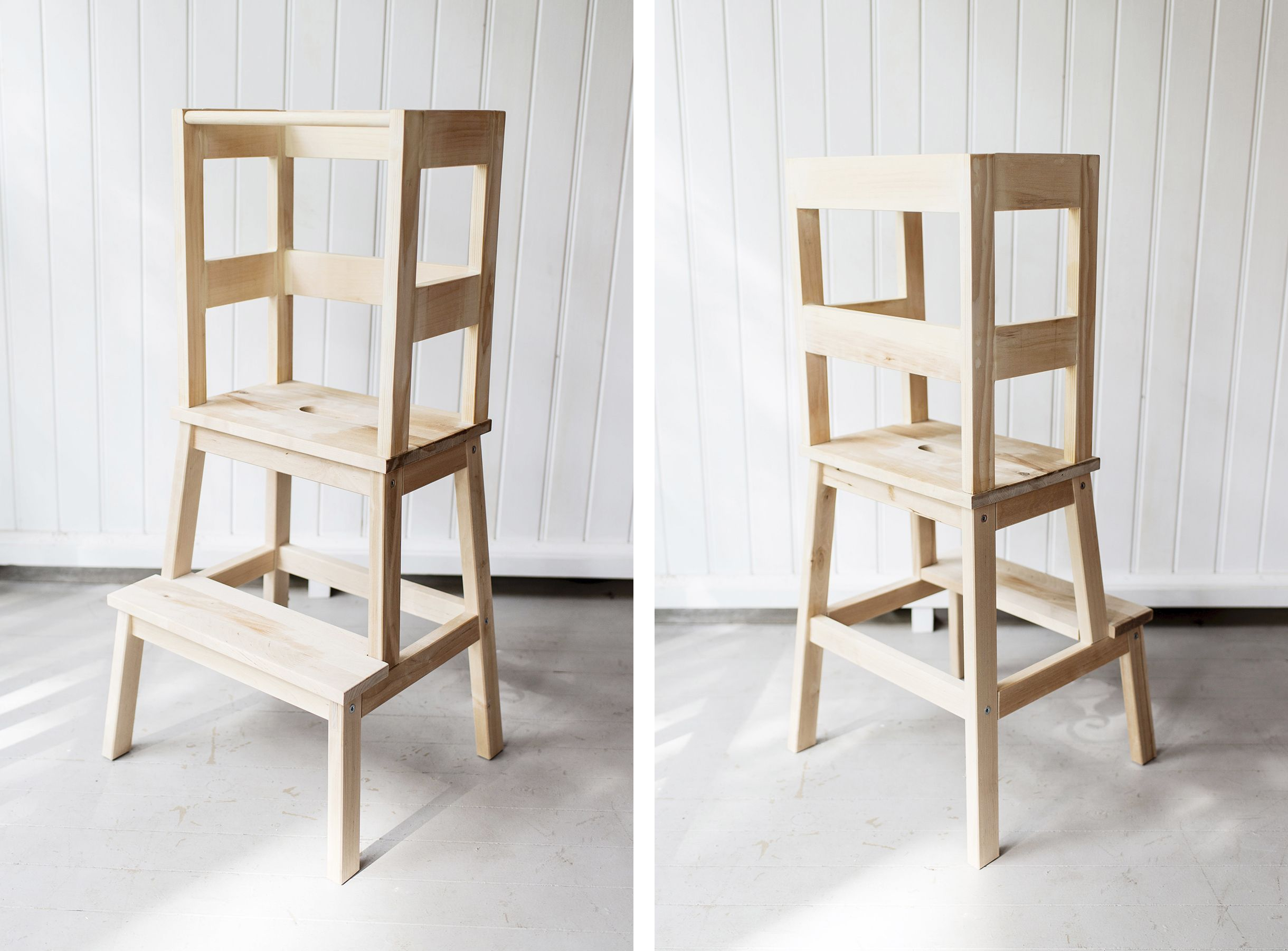 Ikea hack toddler learning tower using a Bekväm stool
