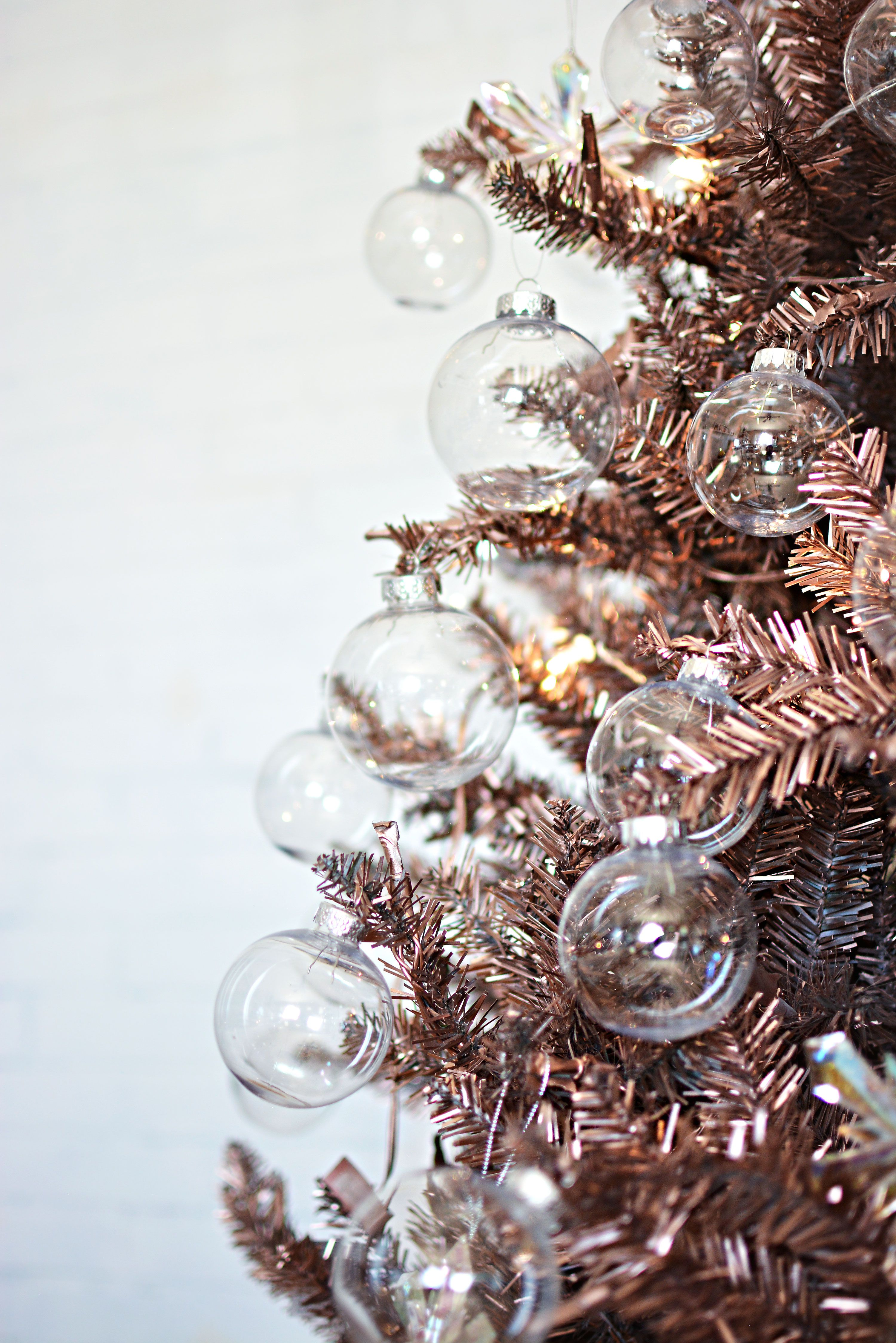 Diy Rose Gold Christmas Tree