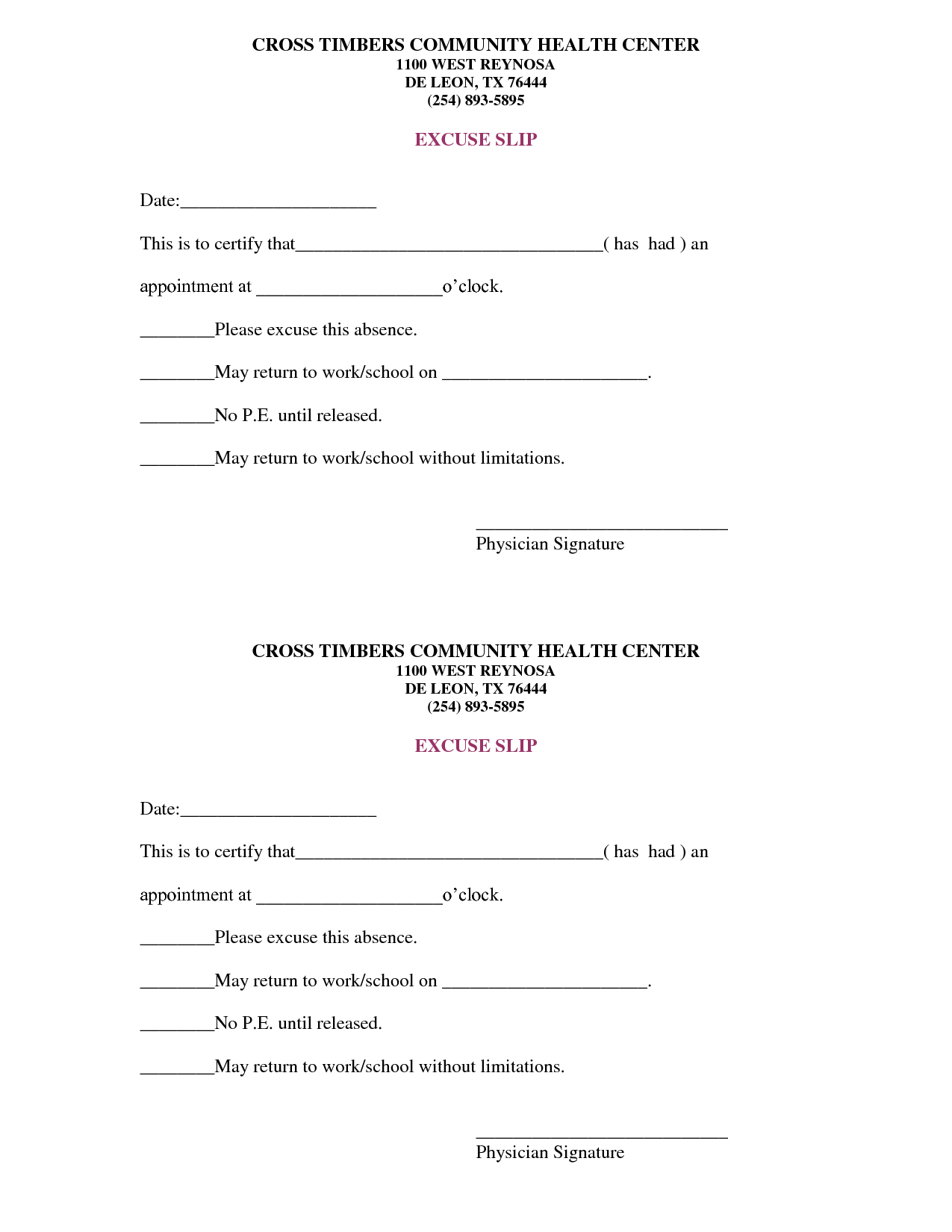 Drs Excuse Template. doctor excuse on pinterest notes template ...