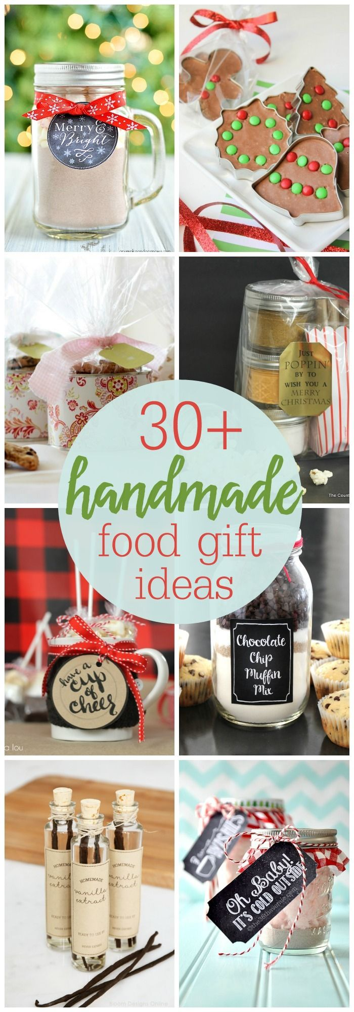 30+ Handmade Food Gift Ideas so many simple, cute and