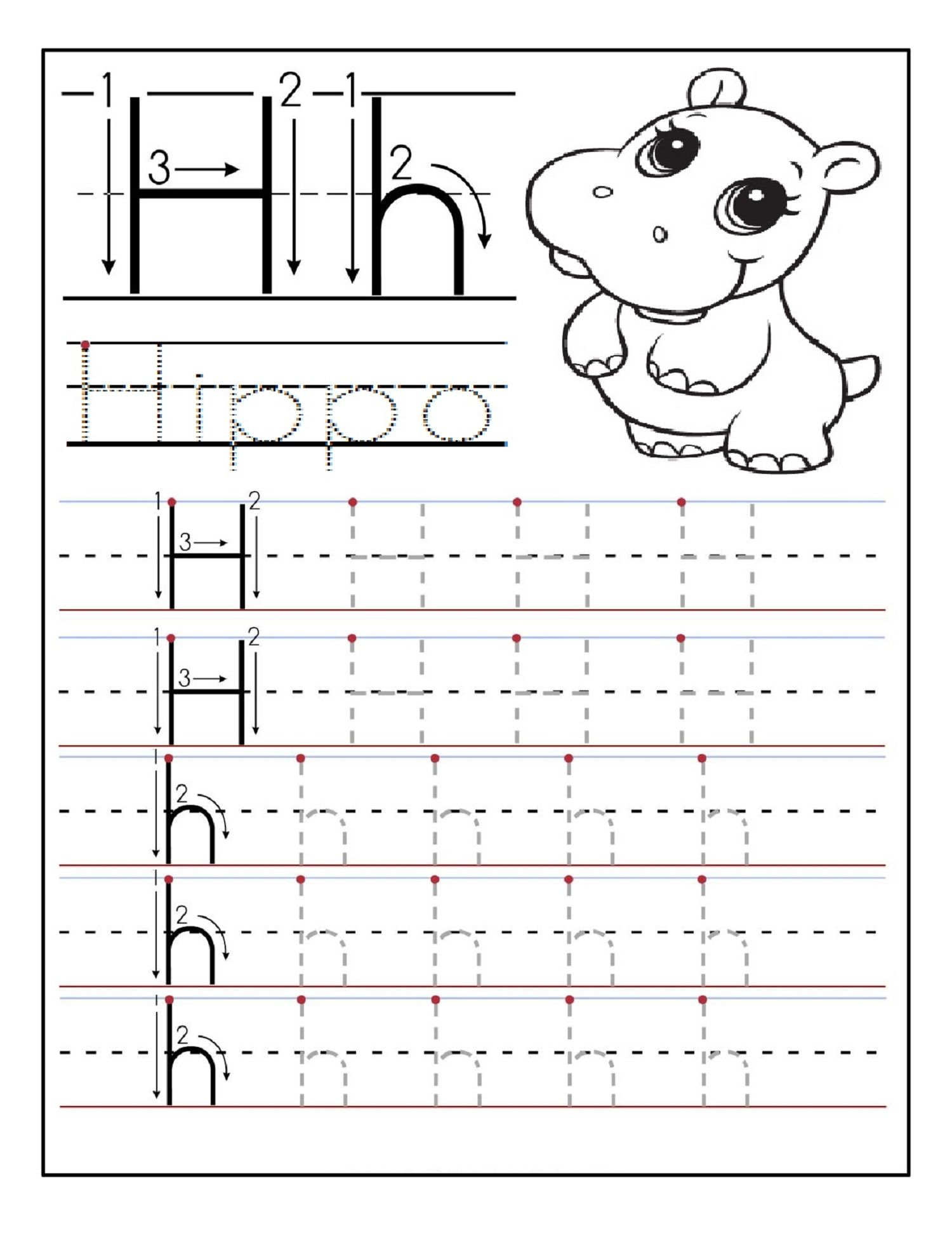 Printable Preschool Worksheets Tracing Letter N Nuts