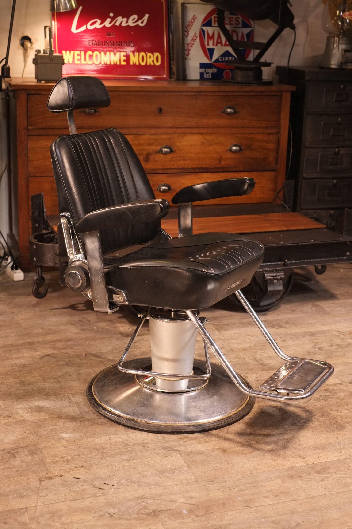 Fauteuil ancien de barbier Belmont Office / Garage