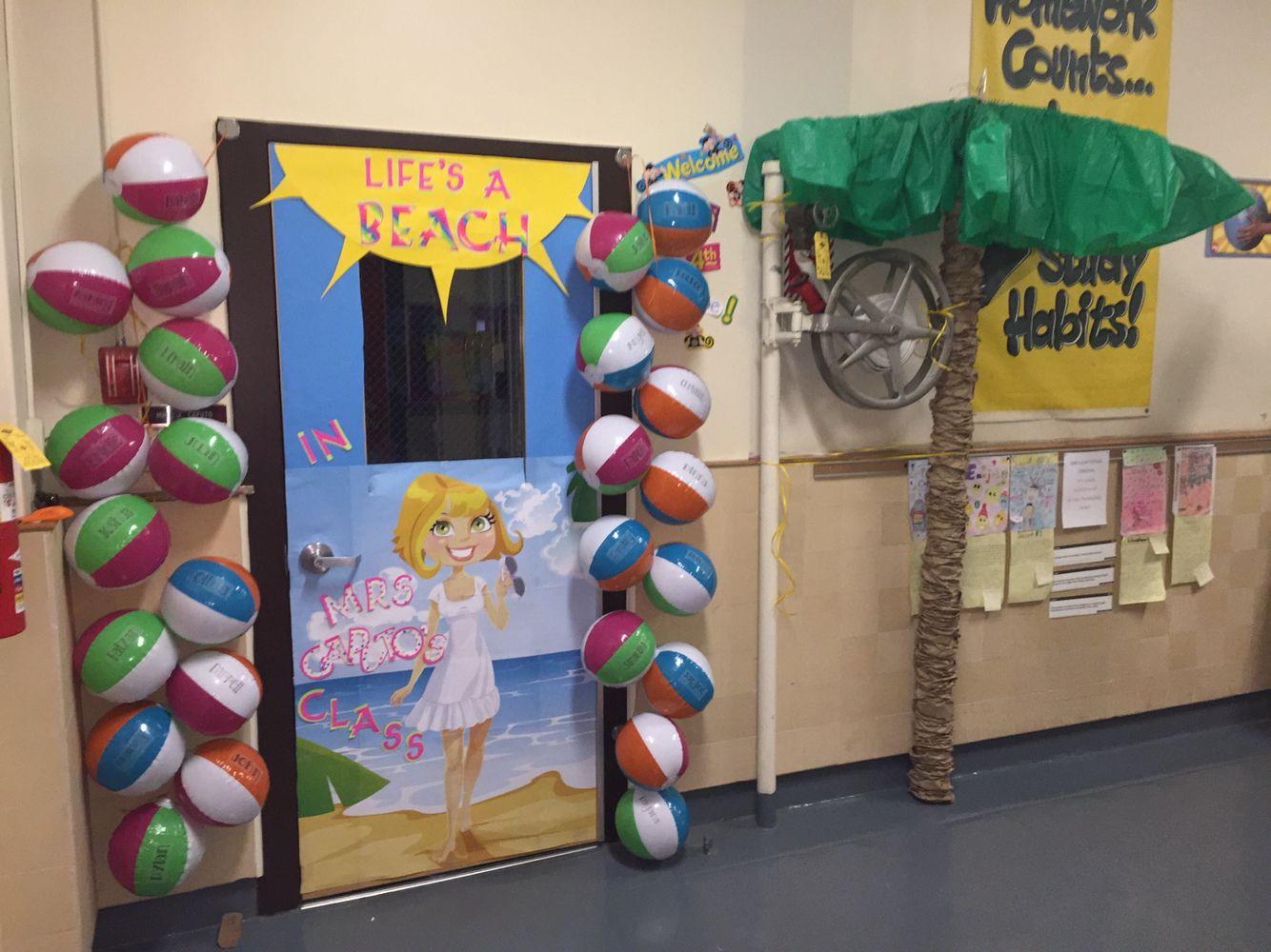 Teacher Appreciation Week Beach Ball Door Decorate