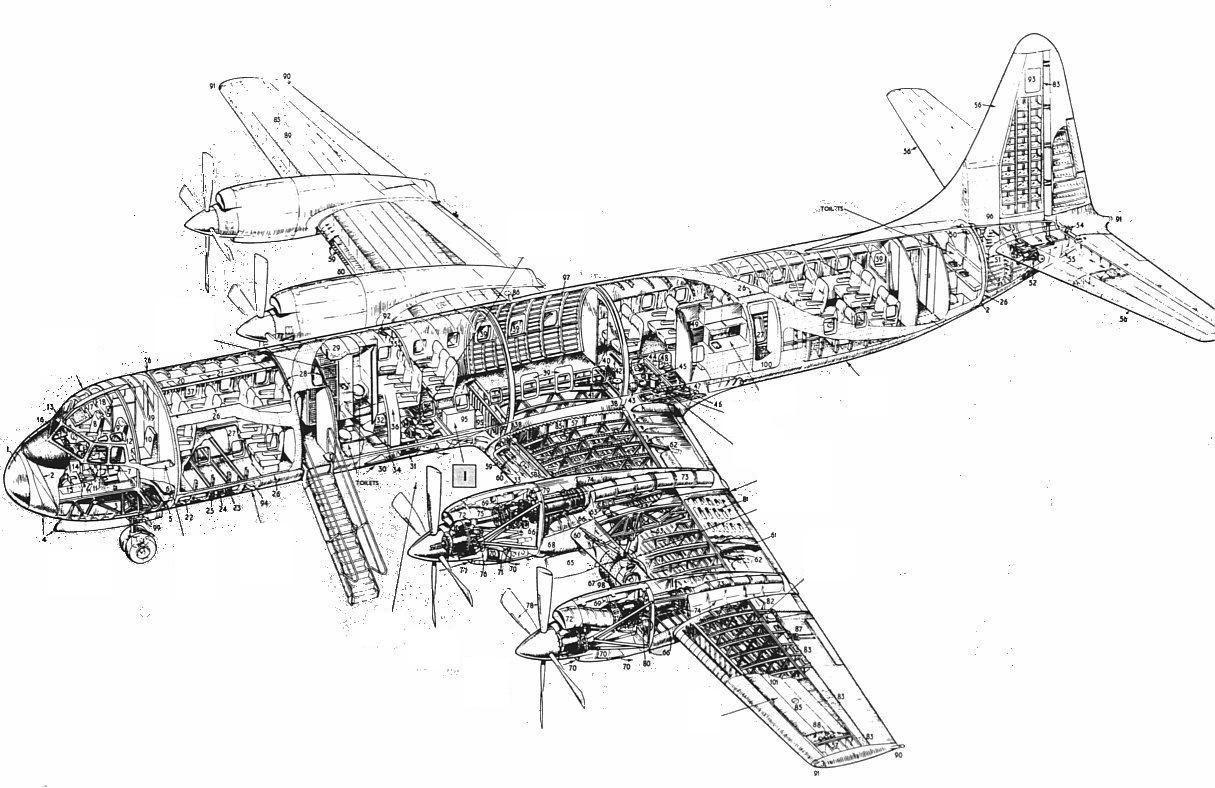 Lockheed Electra L 188 Wireframe 788