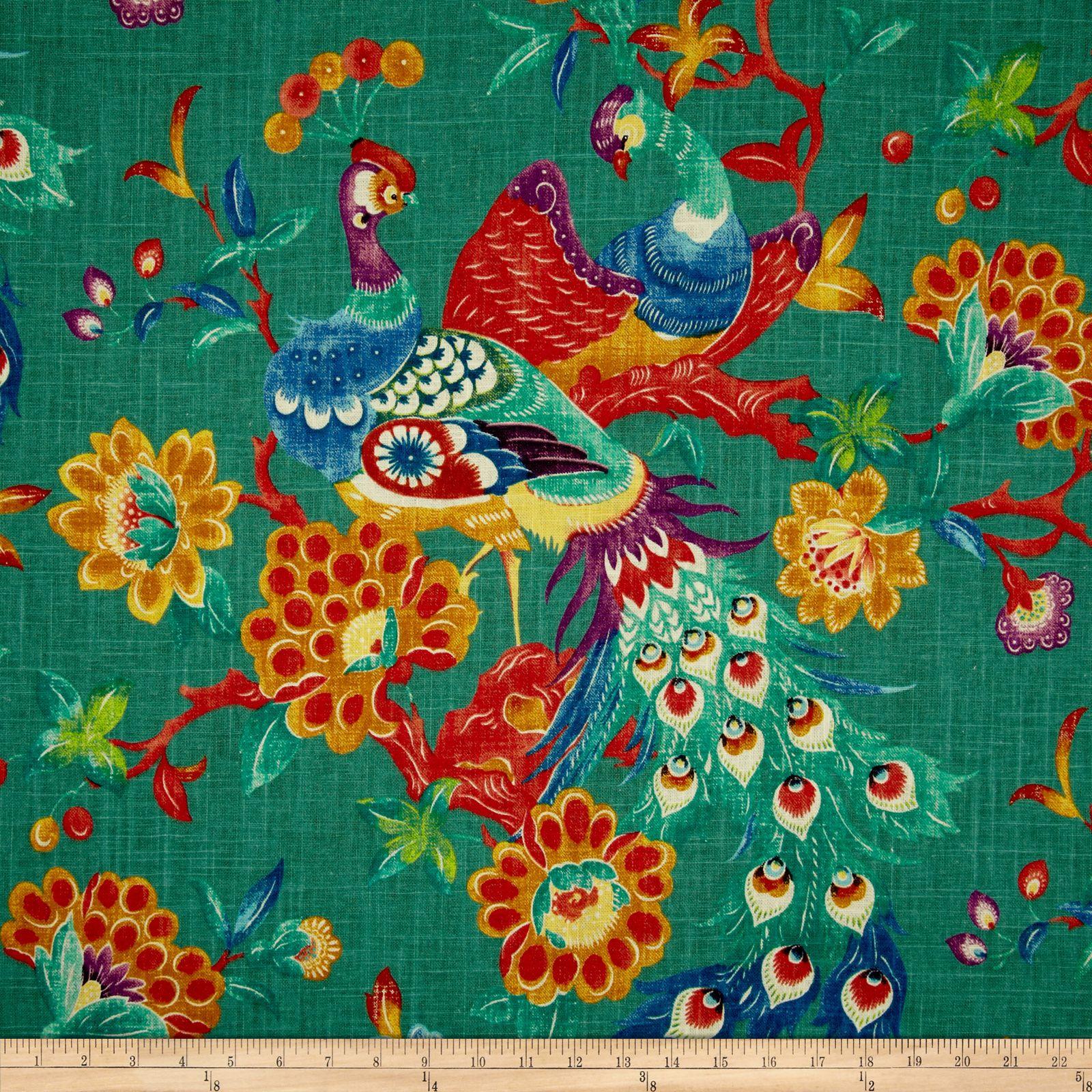 Richloom Preen Blend Peacock Fabric