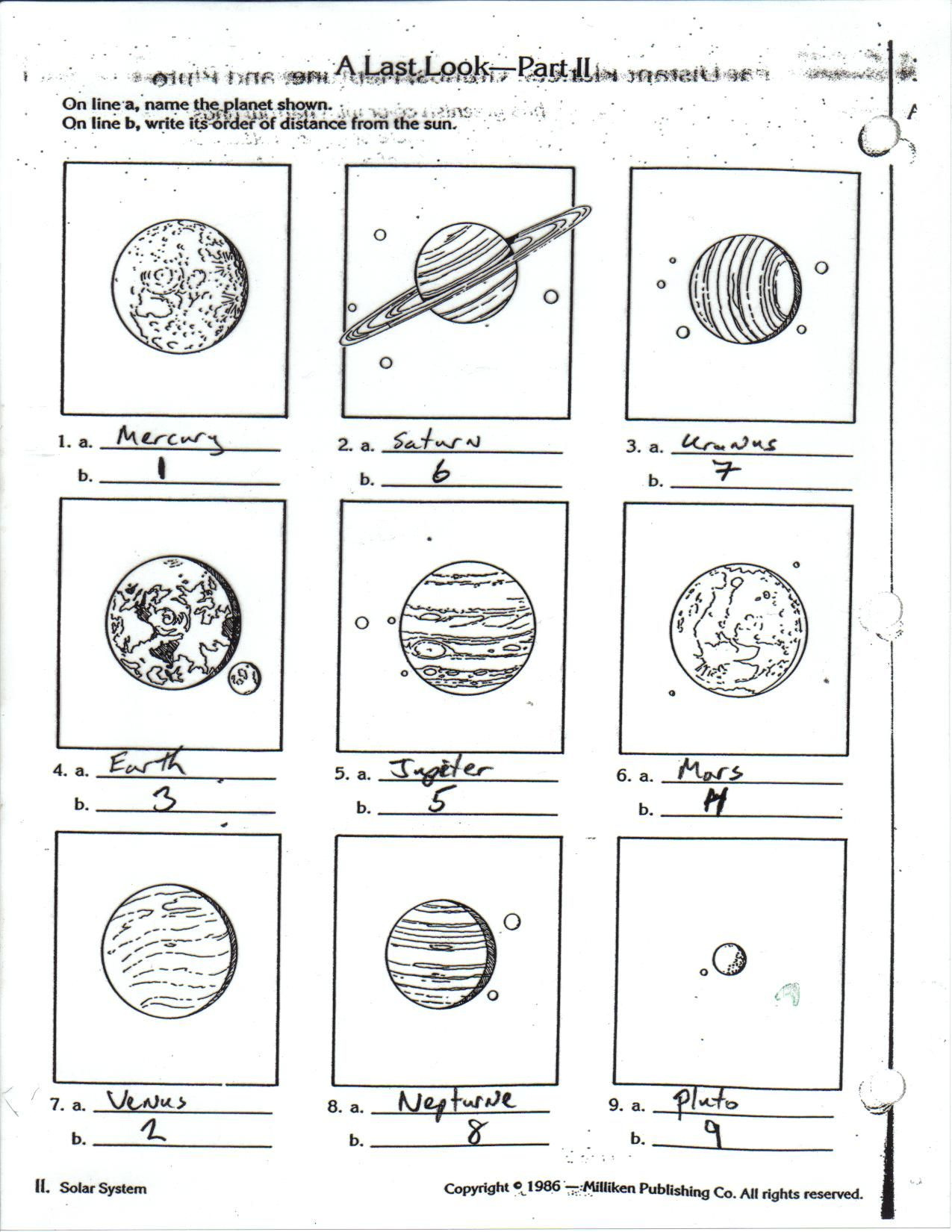 Planets For Kids Worksheets