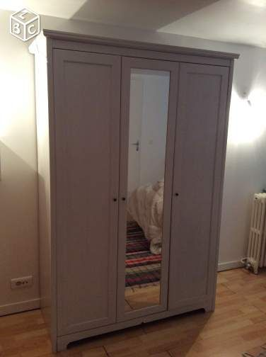 Trendy Armoire Penderie Portes Ikea Modle Aspelund With