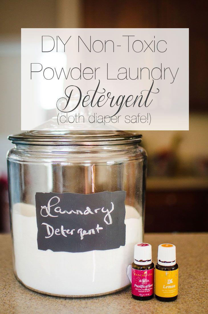 DIY NonToxic Powder Laundry Detergent (Cloth Diaper Safe