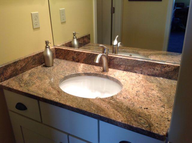 African Ivory granite vanity top Bathing beauties