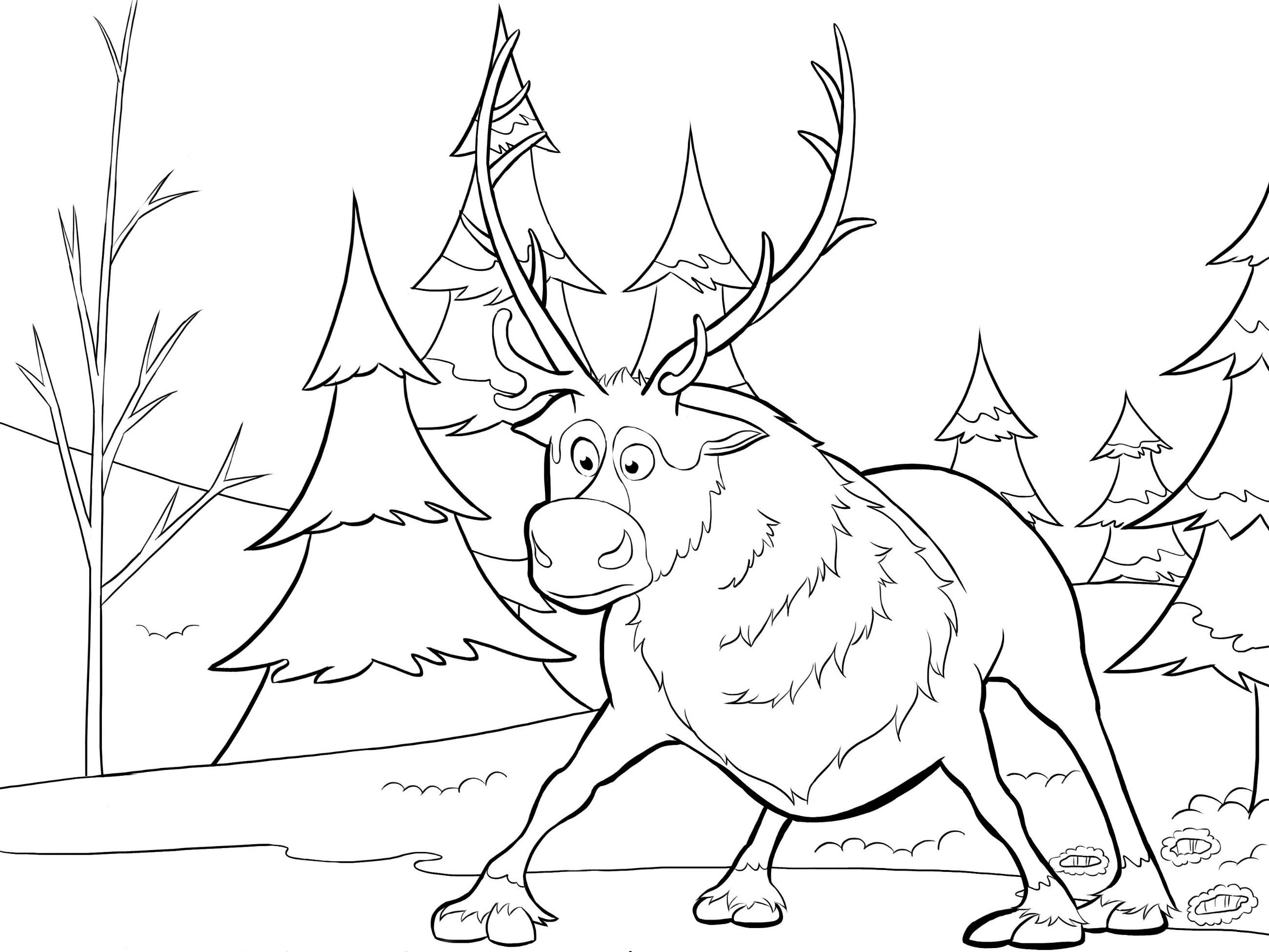 Sven From Frozen Coloring Page Patterns Pinterest Crafts
