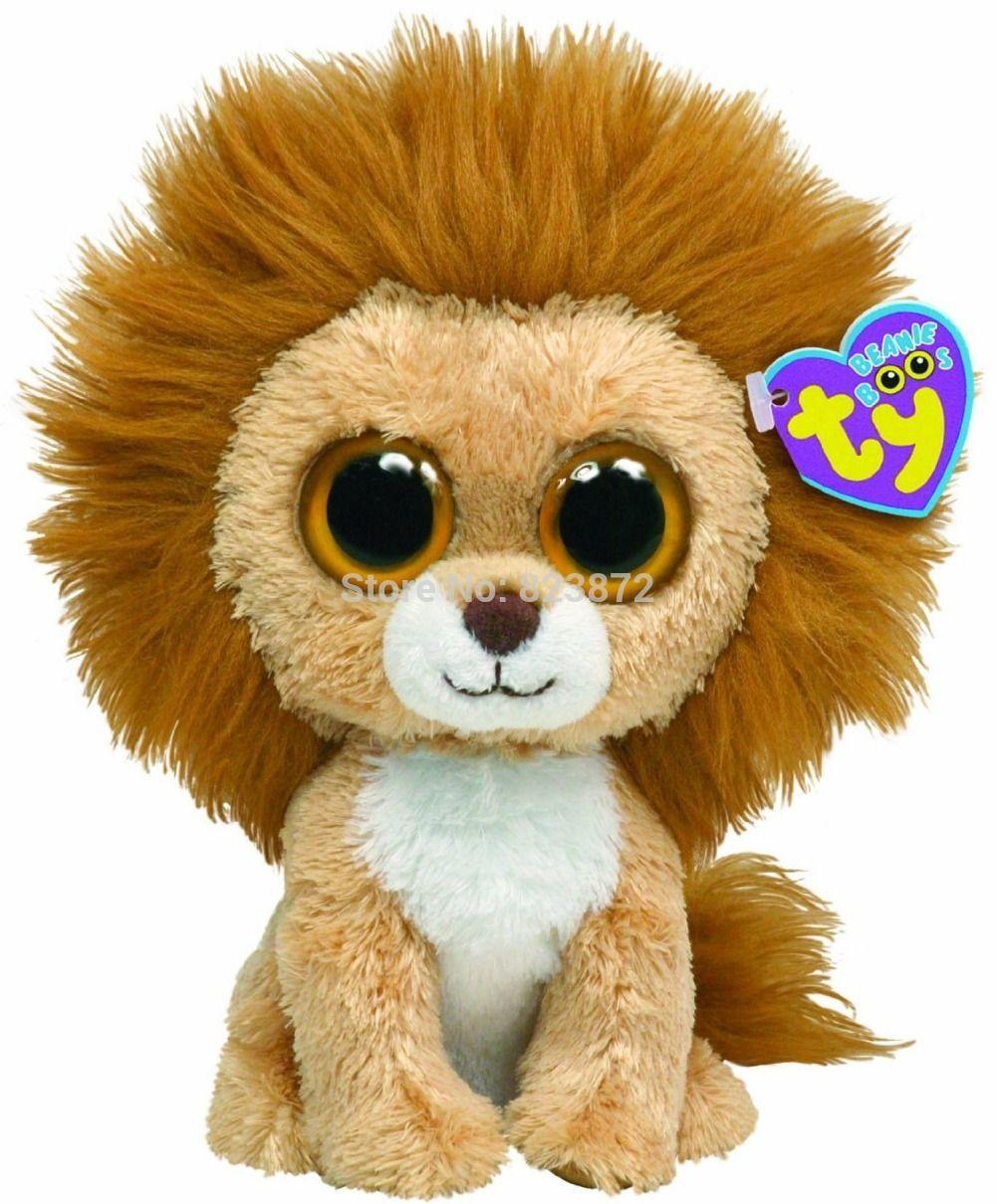 TY Plush Animals Beanie Boos King the Lion Plush Toys 6