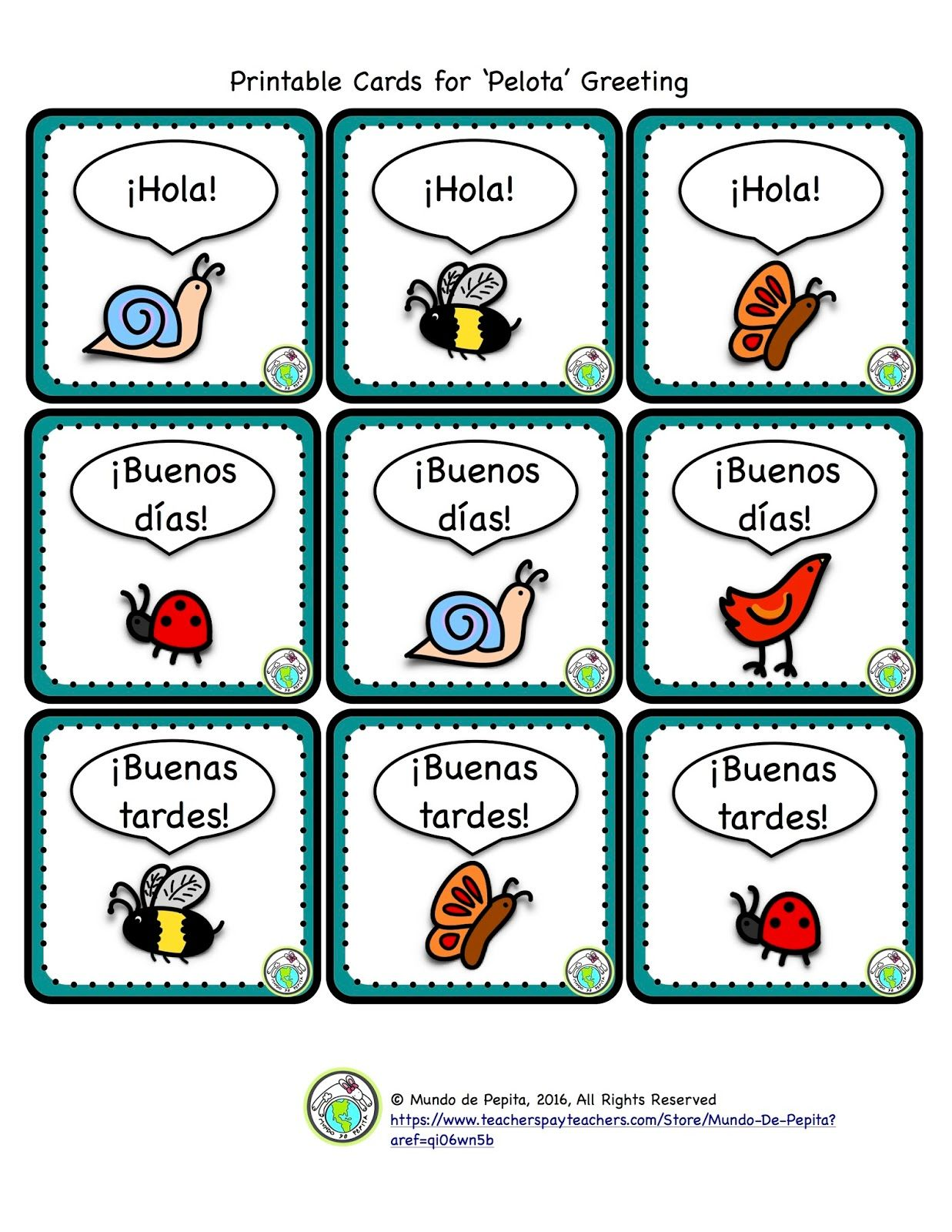 Mundo De Pepita 3 Greeting Games With A Ball For Elementary Spanish