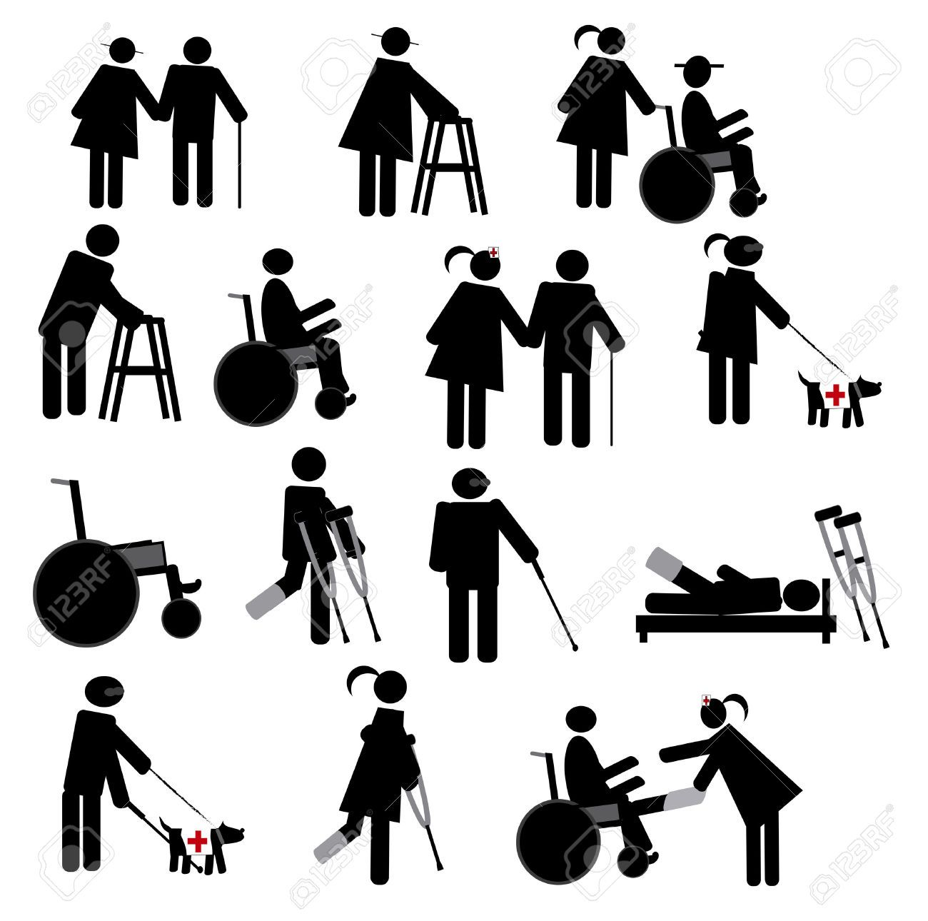 Physiotherapy Icon Set Royalty Free Cliparts Vectors And