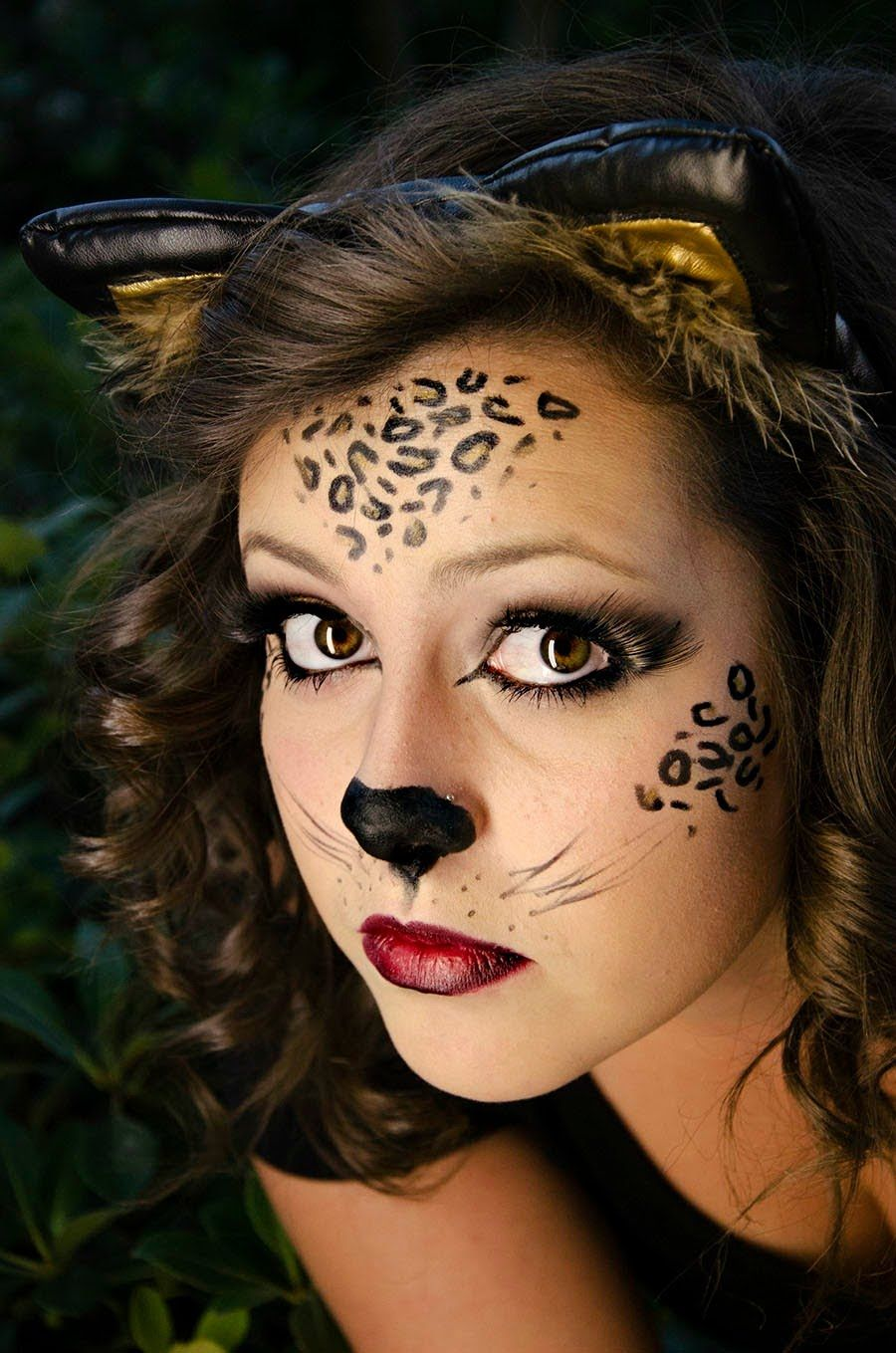 Wild Cat Face Makeup Halloween Pinterest Cat face
