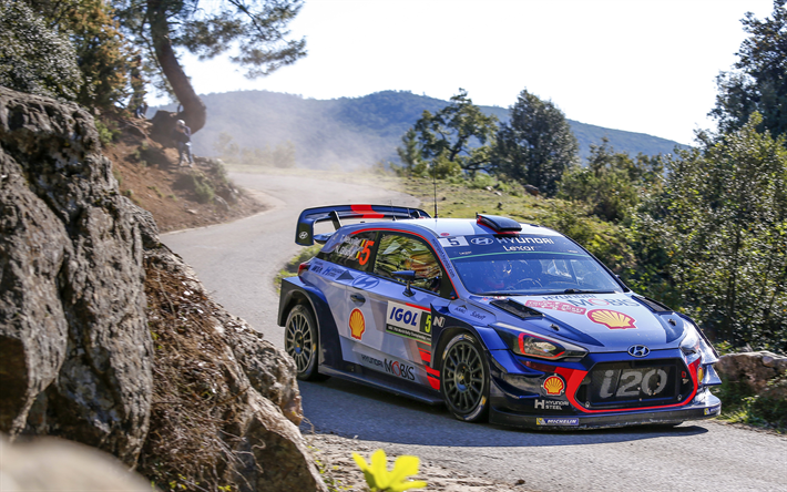 Download wallpapers Hyundai i20 WRC, Thierry Neuville