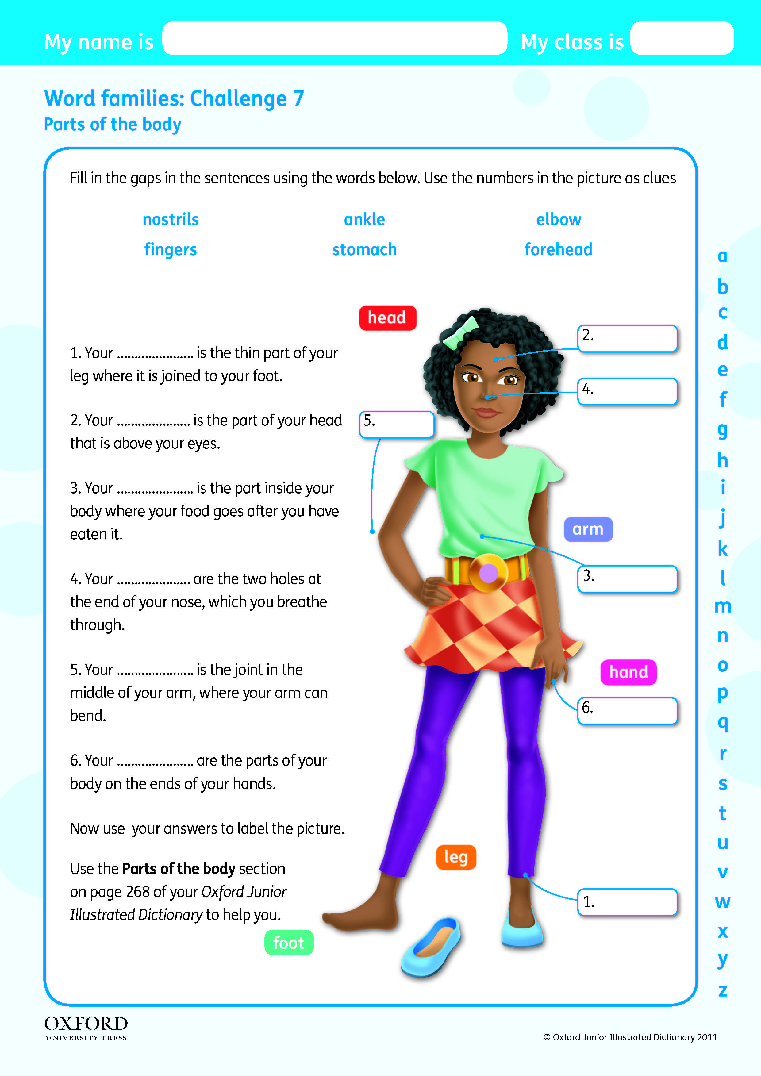 Download Your Free Oxford Junior Illustrated Dictionary Challenge Worksheet Fill In The Gaps In