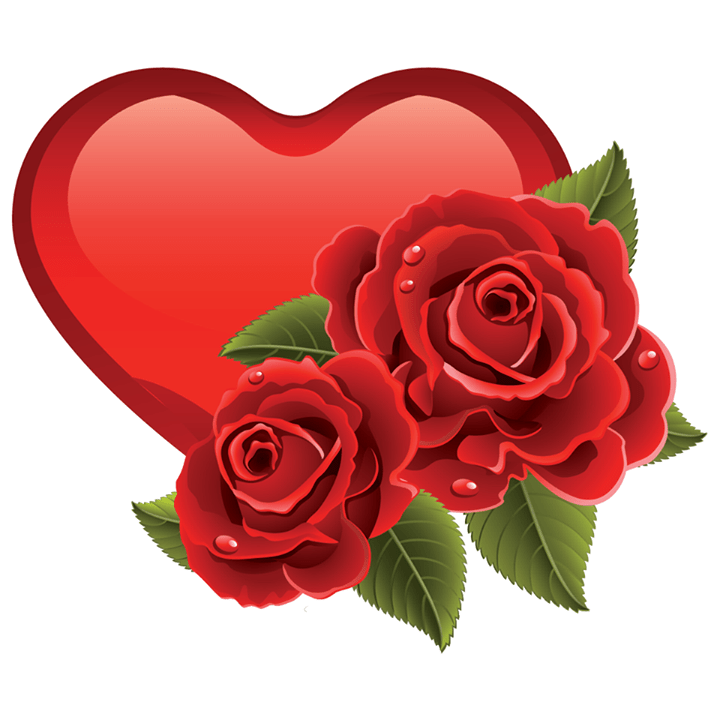 Double Roses Heart Rose, Symbols and Facebook