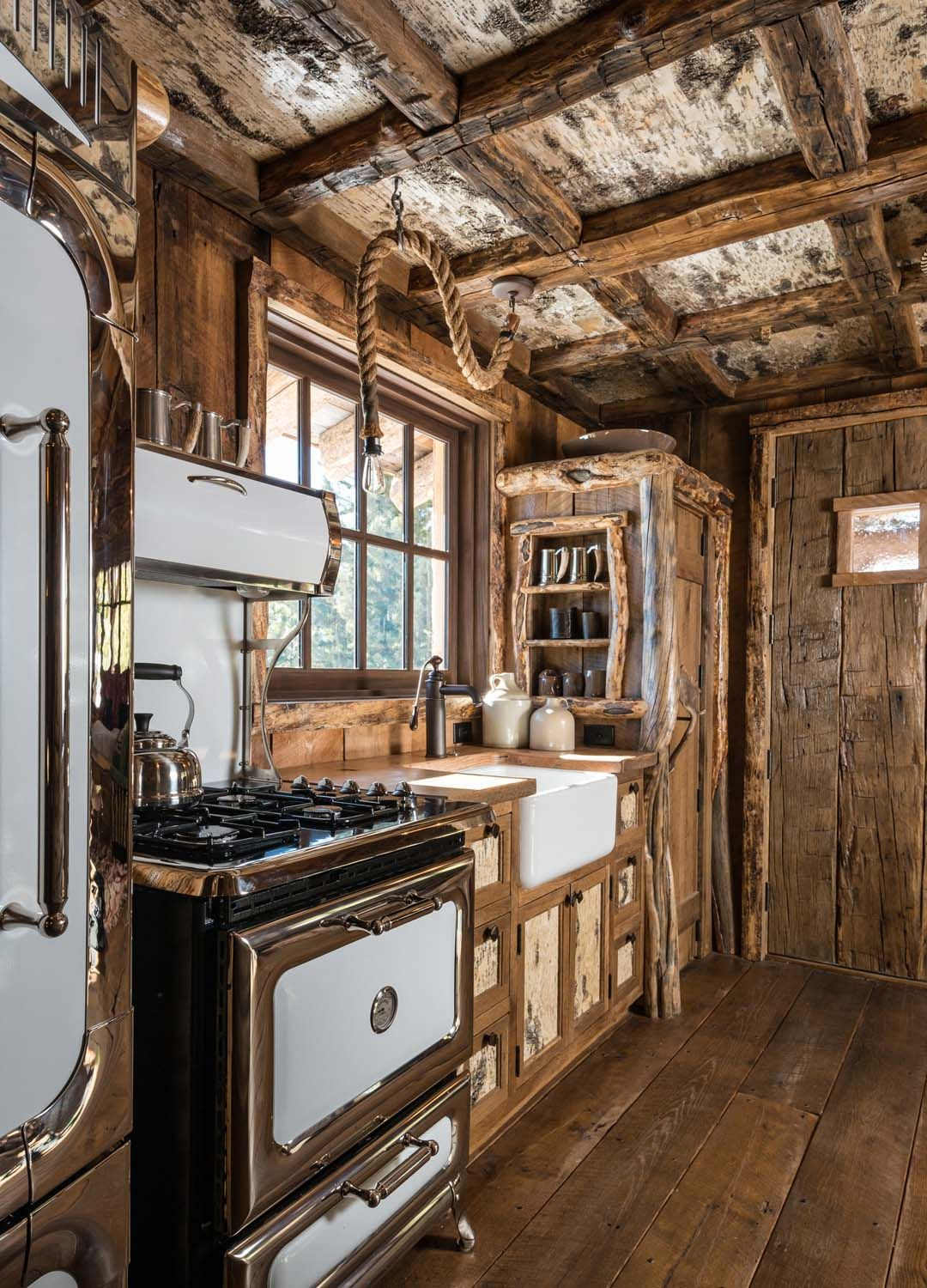 "30"" Heartland Classic Range in rustic country kitchen"