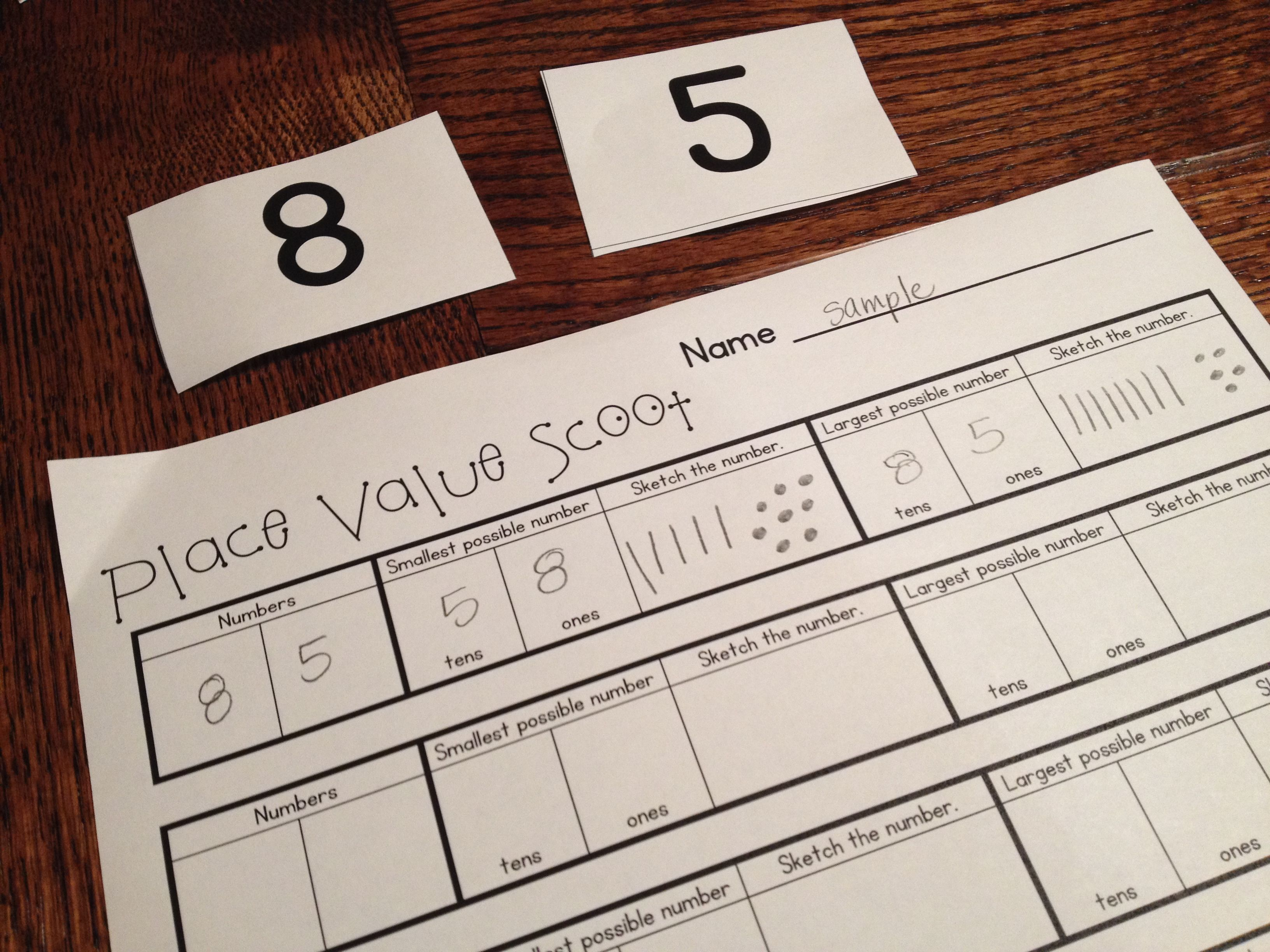 Give Your First And Second Grade Students Movement And Independent Place Value Practice At The