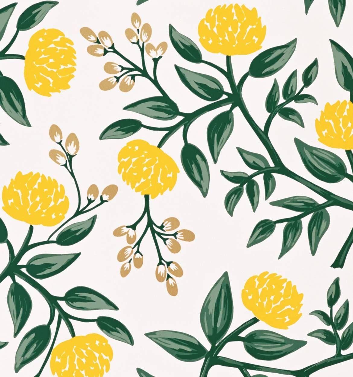Peonies (Yellow) Wallpaper Rifle paper company, Rifle