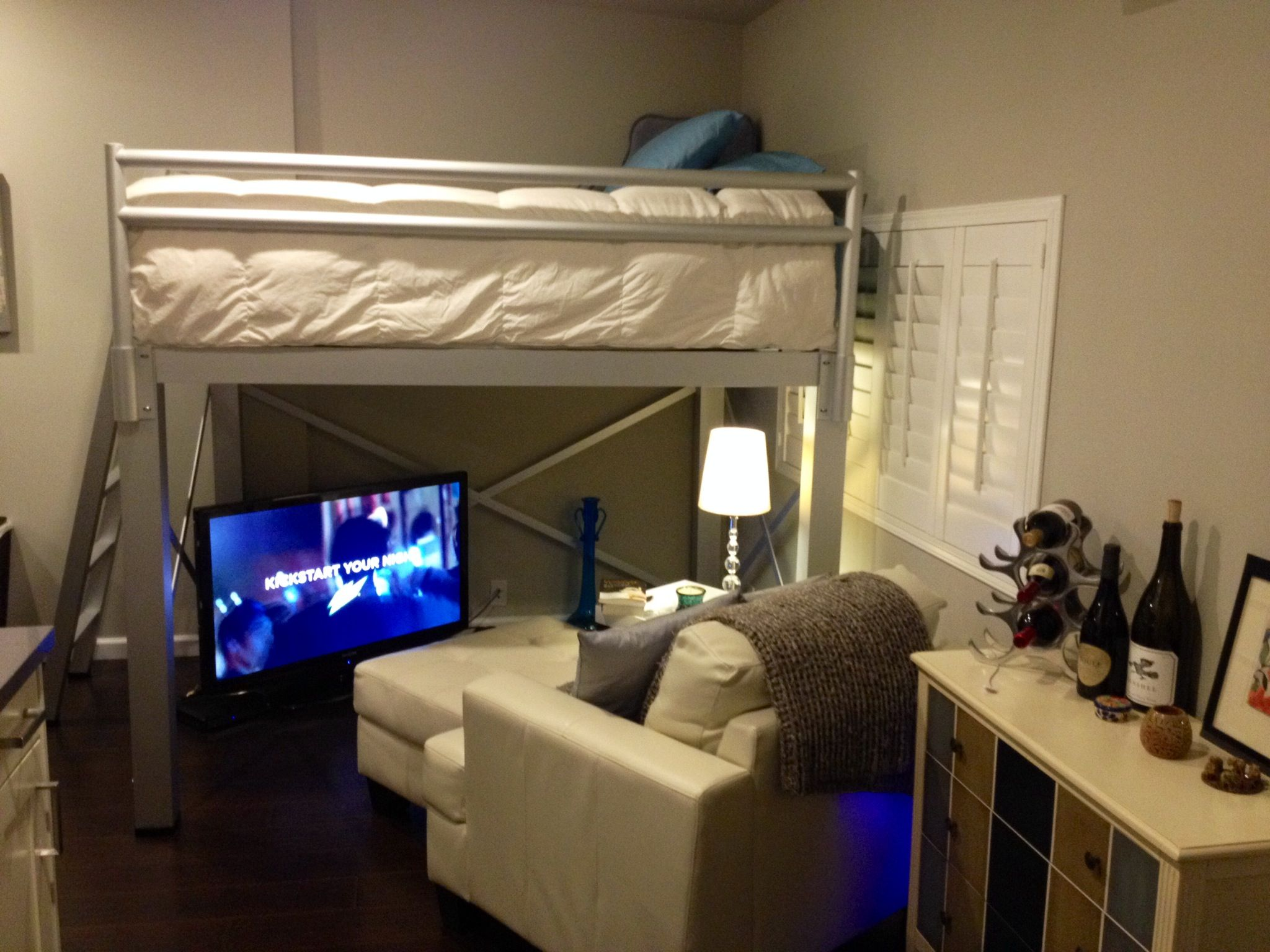 Adult Loft Bed Is A Great Space Saver In A Small Studio