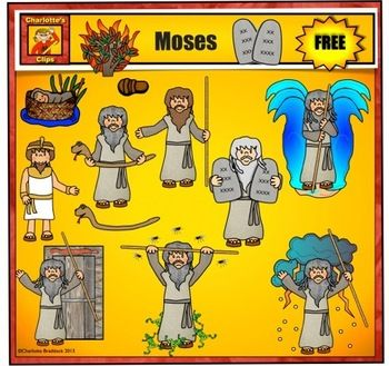 Free Moses Clip Art For Personal Use By Charlottes