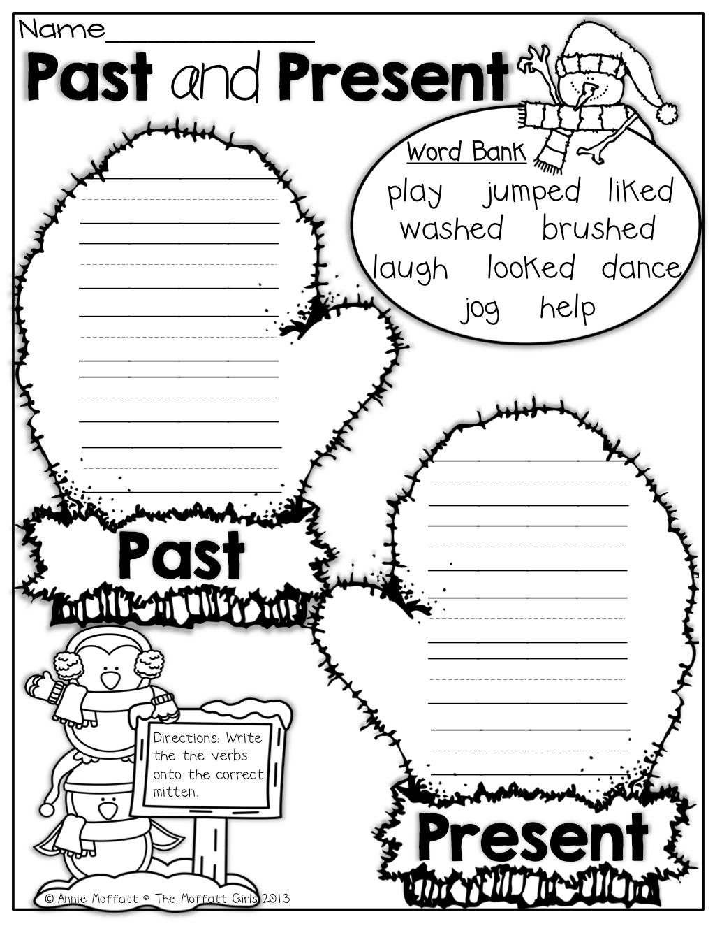 Worksheet Past Tense Grade 2
