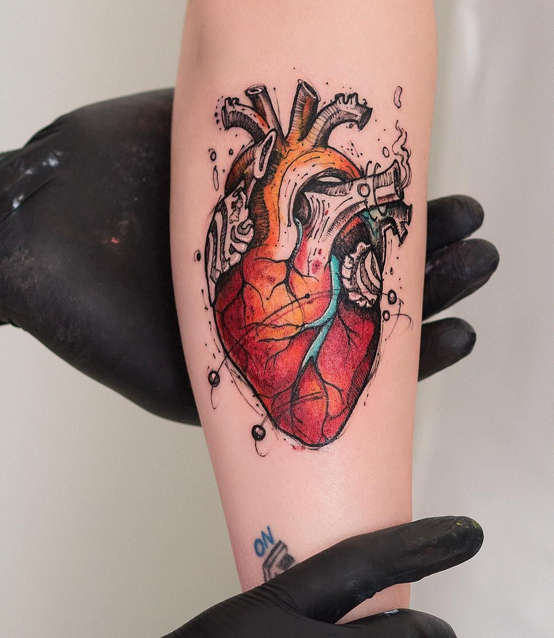 39 Inspiring Anatomical Heart Tattoos Anatomical heart