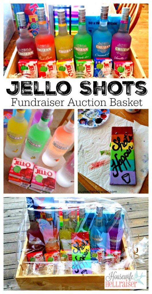 Jello Shots Fundraiser Auction Basket A Rainbow Of