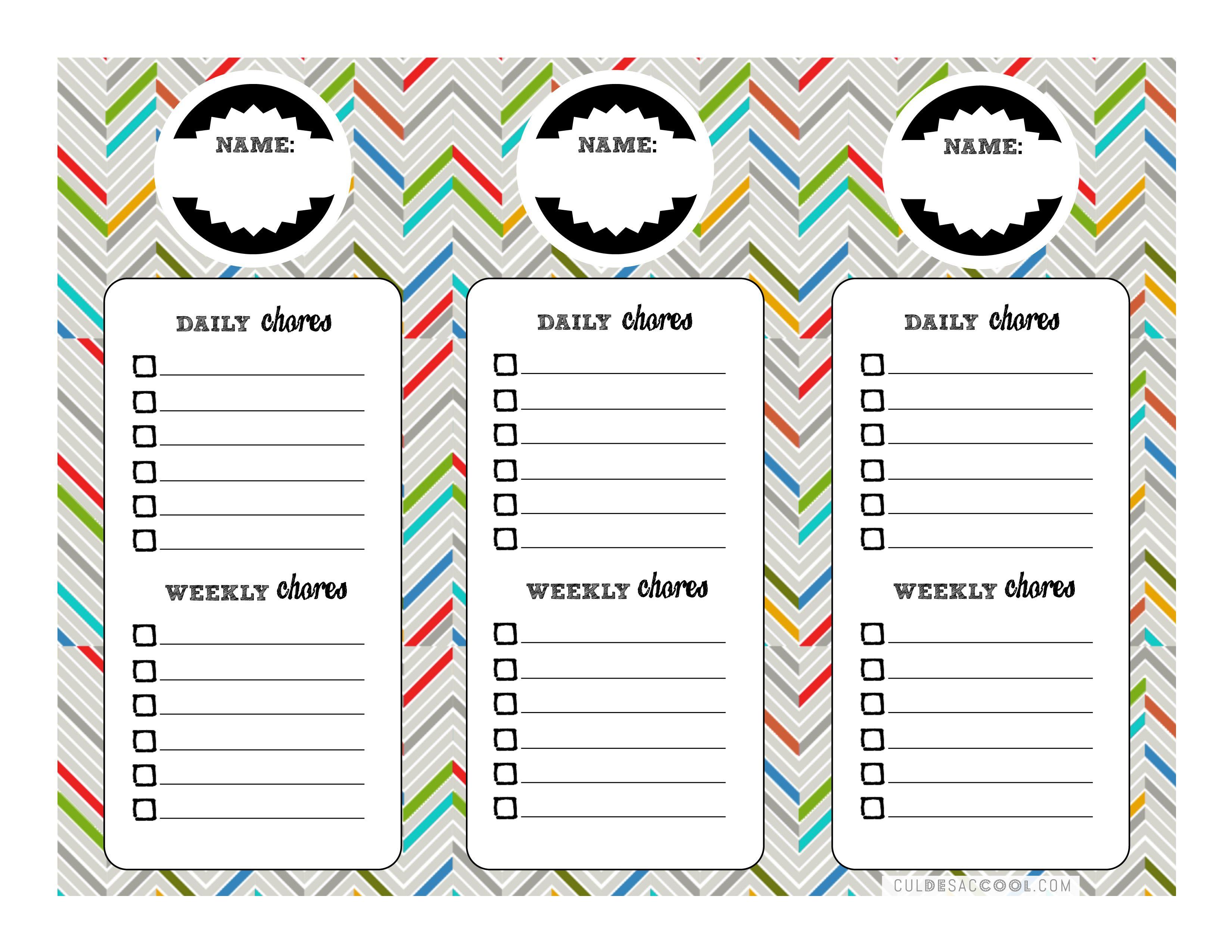 Chore Charts Amp Kitchen Command Center Printables