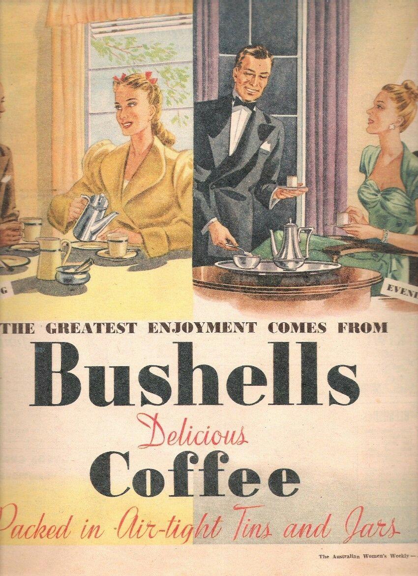 Bushells Coffee Australia 1947. ☕ History Australia