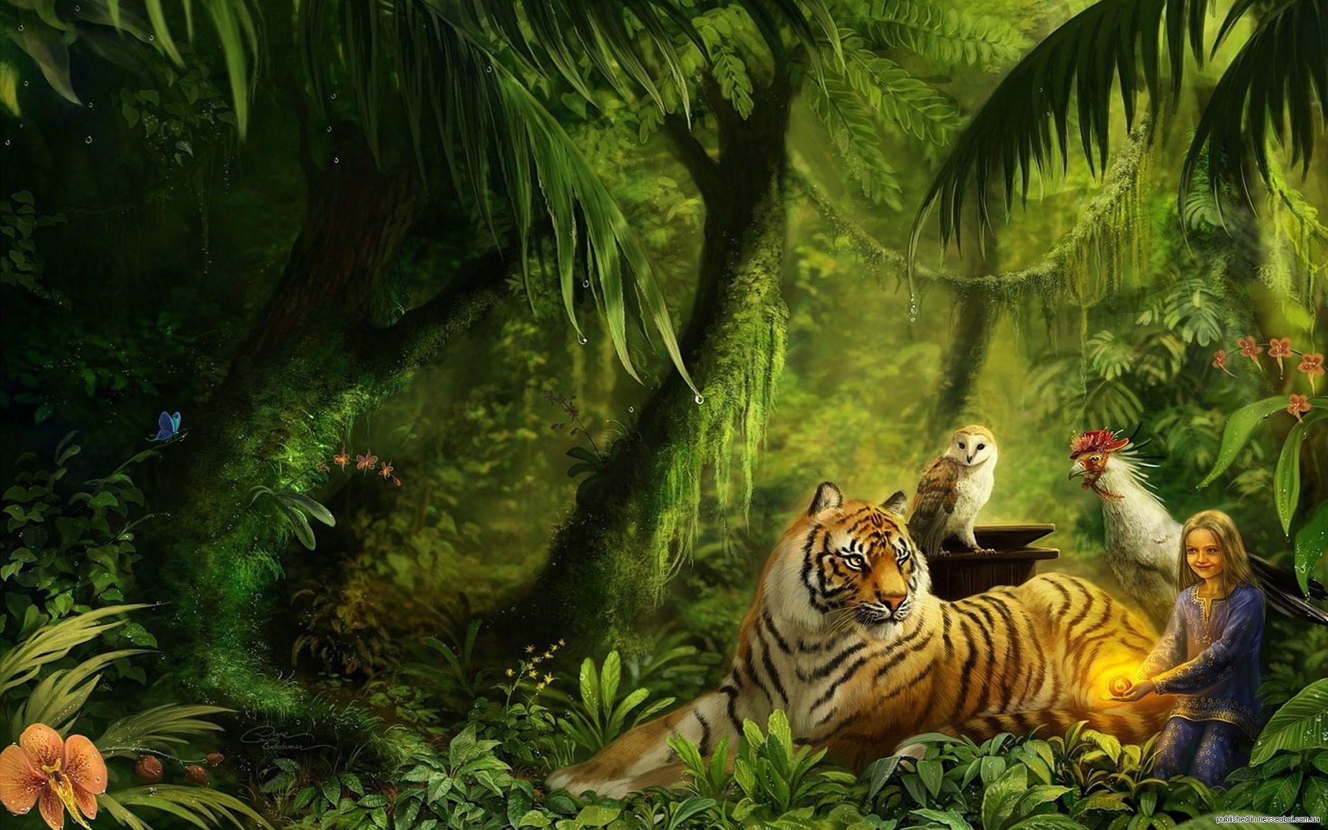 Beautiful Fantasy Beautiful Jungle Fantasy Free HD