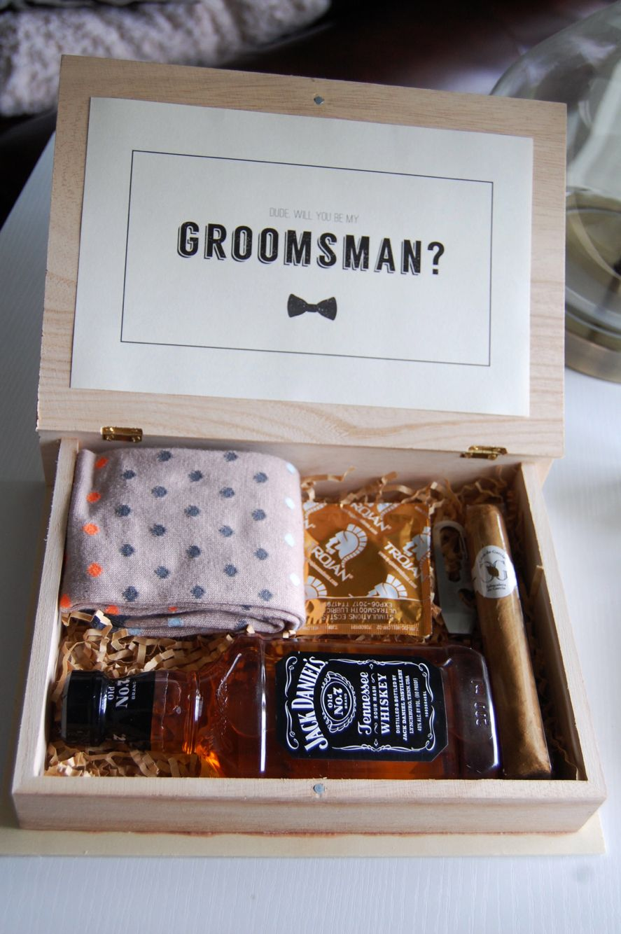 "DIY ""Will you be my groomsman?"" boxes BEST DAY EVER"