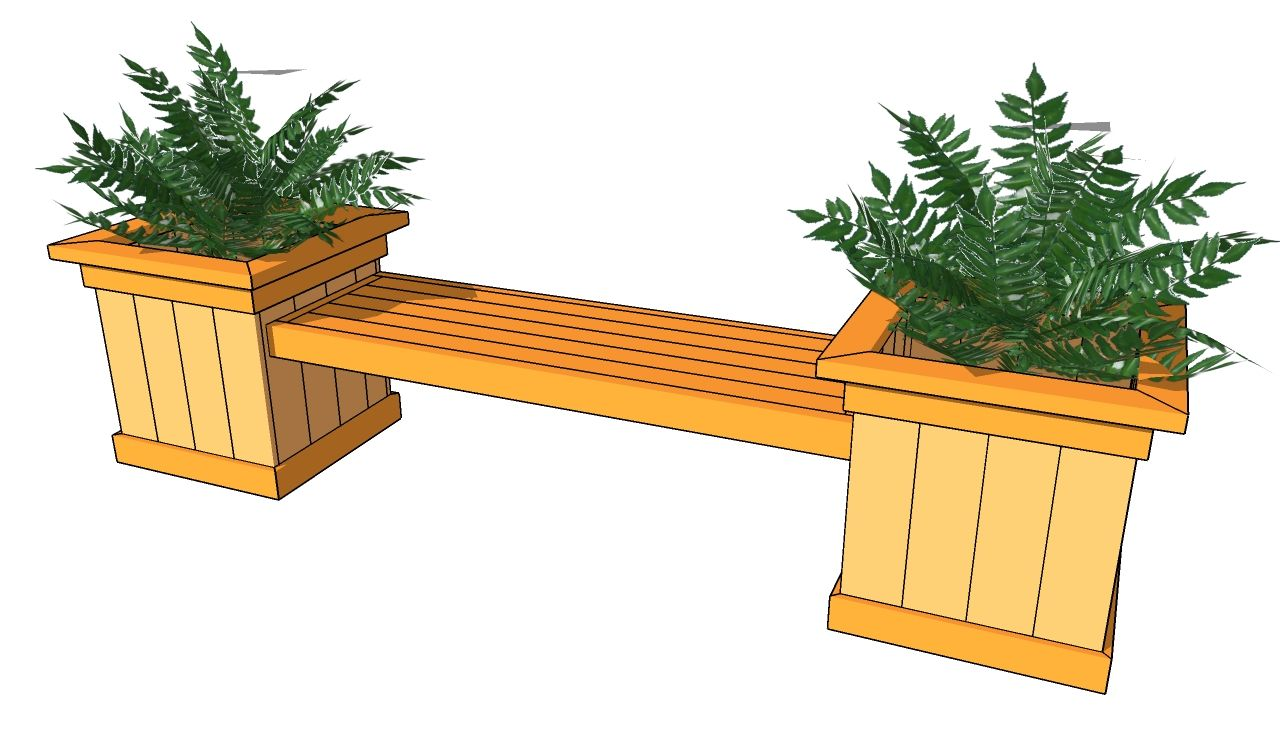 plans for a bench Planter Bench Plans Free Outdoor