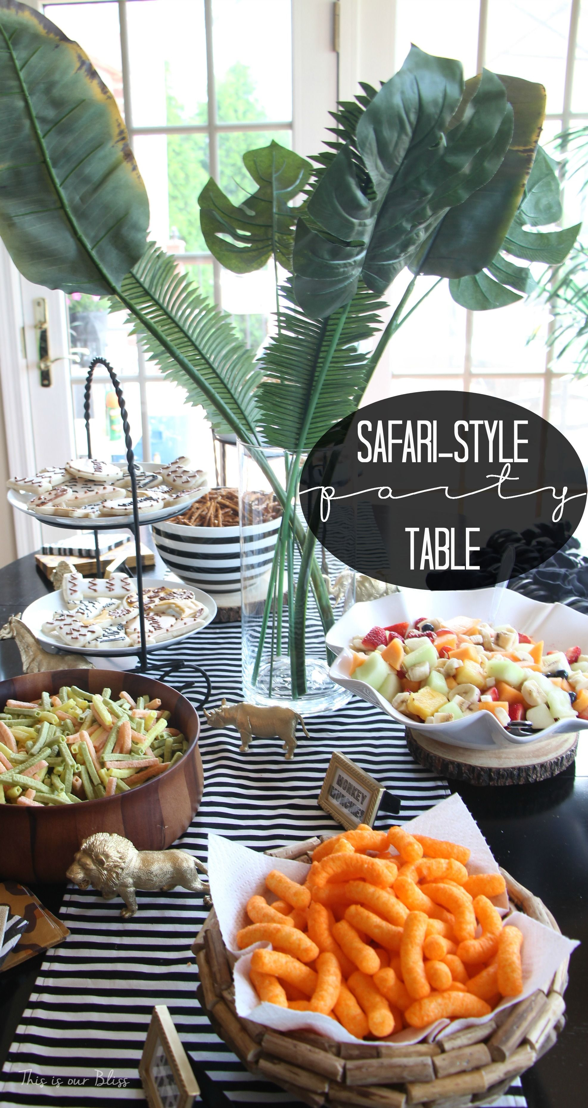 Safari Style Soiree Source List 2 Free Party Printables
