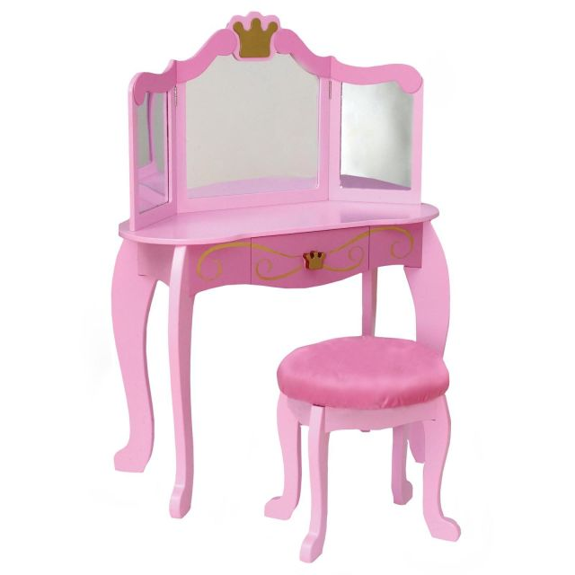 KidKraft Pink Princess Bedroom Vanity Set
